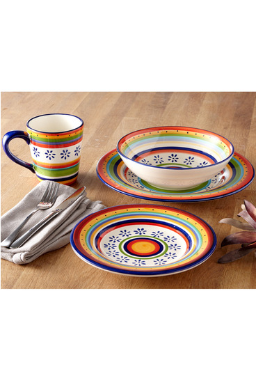CASA DOMANI Ipanema 16 Piece Dinner Set Gift Boxed  sc 1 st  Harris Scarfe : boxed dinnerware sets - pezcame.com