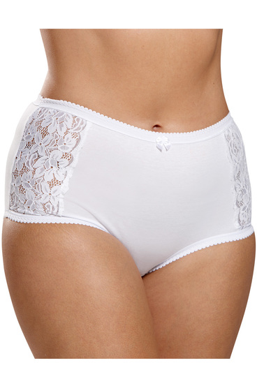 TRIUMPH Cotton Lace Full Brief | Tuggl