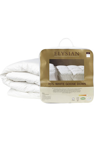 ELYSIAN 85/15 White Goose Feather And Down Quilt Kb
