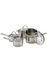 SMITH & NOBEL Luminous 5pc Copper Base Stainless Steel Cookset