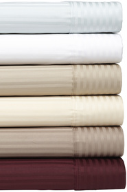RAMESSES 1000 Thread Count Stripe Pima Cotton Sheet Set King