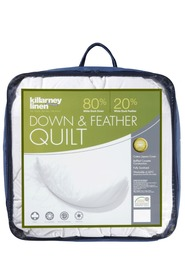KILLARNEY 80% White Duck Down and Feather Quilt King Bed