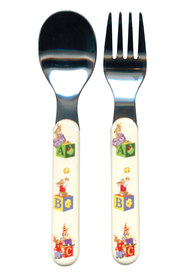 BUNNYKINS ABY SPOON AND FORK BABY SET
