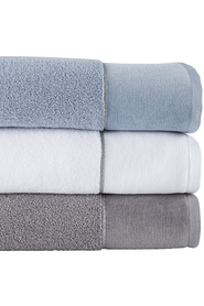 SIMPLY VERA VERA WANG Chenille Bath Towel Egyptian White