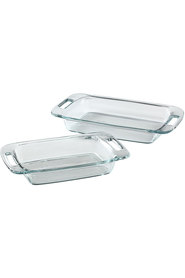 PYREX Easy Grab Glass Ovenware Twin Pack Bakers 1.9/2.85L