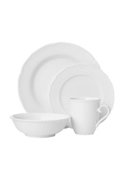 CASA DOMANI Casual White Florence Dinner Set 16 Piece Gift Boxed