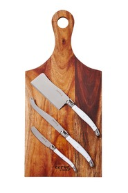 CLASSICA  Acacia paddle and knife set 4pc