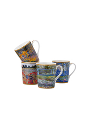 CASA DOMANI IMPRESSIONS MONET 4PC 400ML MUG SET