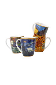 CASA DOMANI IMPRESSIONS VAN GOGH 4PC 400ML MUG SET