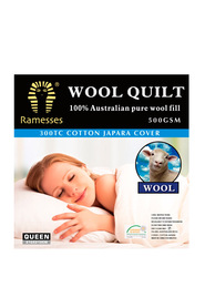 RAMESSES 500GSM Australian Winter Weight Wool Quilt Queen Bed