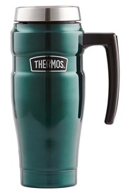 THERMOS  470Mk Stainless Steel King Vaccumn Trav Mug Grn