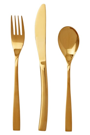 SMITH u0026 NOBEL Ouro 32 Piece Gold Plated Cutlery Set  sc 1 st  Harris Scarfe & SMITH u0026 NOBEL Ouro 32 Piece Gold Plated Cutlery Set | Harris Scarfe