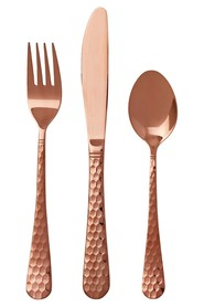SMITH & NOBEL Rosa 32 Piece Plated Cutlery Set Rose Gold