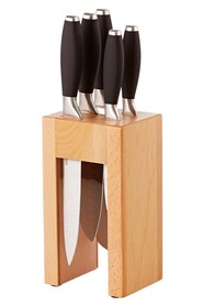 SMITH & NOBEL  6Pc Pro Knife Block