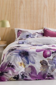 ONKAPARINGA Watercolour Cotton Sateen Quilt Cover Set QB