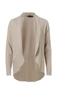 SAVANNAH Rib Shawl Neck Cardigan