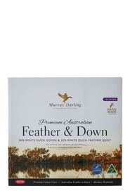 TONTINE Murray Darling 80% White Duck Down 20% White Duck Feather Quilt QB