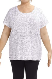 Tania kay etched floral tee hs-018