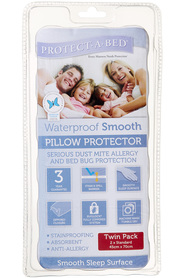 PROTECT A BED 2pk Smooth Pillow Protector