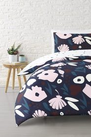 MOZI Bloomie Cotton Percale Quilt Cover Set Double Bed