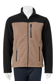 BRONSON Zip Thru Contrast Bonded Polar Fleece Jacket
