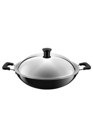 TEFAL  Large Wok With Stainless Steel Lid 36Cm