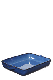 SMITH & NOBEL Reactive Glaze Rectangle Baker Blue 37cm