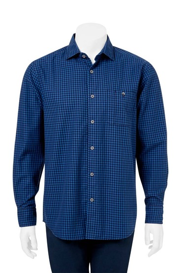 JC LANYON CASUAL TWILL GINGHAM SHIRT | Tuggl