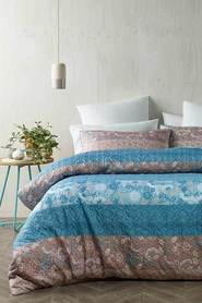 PHASE 2 Leawood Soft Touch Quilted Microfibre Quilt Cover Set QB