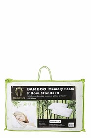 RAMESSES 2pk Bamboo Memory Foam Pillows