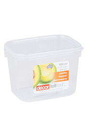 DECOR Tellfresh Plastic Oblong Food Storage Container 800Ml
