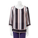 KHOKO SMART Stripe 3/4 Sleeve Top