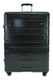 SWISS EQUIP Amalfi 82cm 4WD Expandable Trolleycase Black