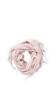 KHOKO SOLID SCARF WITH FRINGE, BLUSH, NS