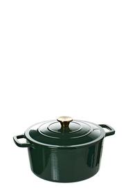 SMITH & NOBEL Traditions 5L Cast Iron Casserole Green
