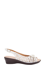 SAVANNAH Indiana Peep Toe Sling Back Wedge