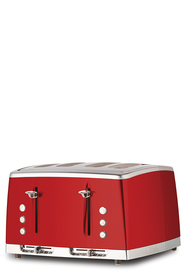 RUSSELL HOBBS Lunar 4 Slice Toaster Red