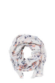 KHOKO BUTTERFLY FLOWERS POLY SCARF