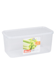DECOR Tellfresh Plastic Oblong Food Storage Container 3.25 Litre