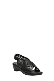 HUMAN FAITH MID WEDGE CROSS SANDAL