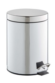 STORE ROUND PEDAL BIN 5L STAINLESS STEEL