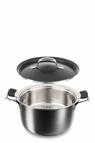 TEFAL Experience PTFE Stockpot With Steamer 24cm