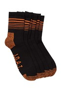 3pk Cotton Quarter Crew Action Sock