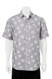BRONSON Printed Linen Short Sleeve Shirt