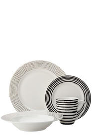 MAXWELL & WILLIAMS TRESOR STRIPE DINNER SET 16PC
