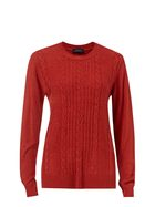 SAVANNAH Soft Touch Crew Cable Jumper