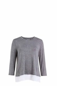 SASH & ROSE 3/4 Knit Woven Sleep Tee