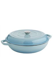 SMITH & NOBEL Traditions Cast Iron Braiser Blue 4.5L