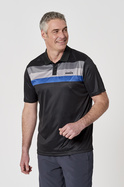 TECH SUBLIMATED STRIPE POLO