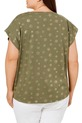 KHOKO PLUS ABSTRACT SPOT TEE, KHAKI, 16+